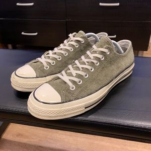 Converse Chuck 70' Ox - Green Suede - Size 9